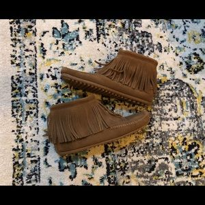 Minnetonka suede booties
